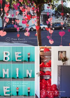 10 Awesome Valentine's Day Ideas - I love the hearts hanging from the tree! I could hang those in the doorway. Unique Valentines Day Gifts, Valentines Day Party, Valentine Day Love, Valentine Day Crafts, Funny Valentine, Valentine Tree, Valentine Ideas, Holiday Fun, Holiday Crafts