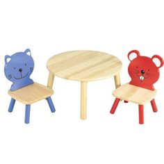 Table and Animal Chairs Set >>> Click image for more details.