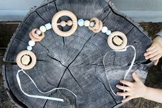 Our popular Deluxe Pram Garland will hang across the front of your pram to keep your babe happy and content as you stroll. Beech rings and our amazing beech teether rattle, with wooden and silicone...