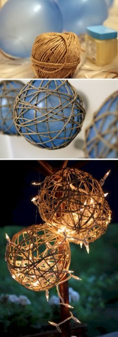 15 DIY Twine Garden Lanterns Home Decor DIY Crafts