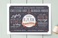 Serendipity Wedding Invitations by Sarah Brown at minted.com in yellow and grey. Same price