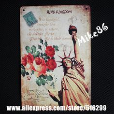 [ Mike86 ] The statue of liberty Vintage Building Metal Painting wall sign Home Craft Pub Decor 20*30 CM AA-356