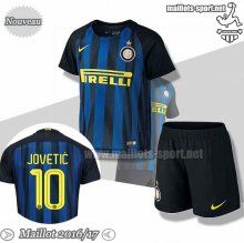 Promo:Flocage Jovetic 10 Maillot Foot Inter Milan Bleu/Noir Enfant 2016-2017 Domicile | Maillots-Sport