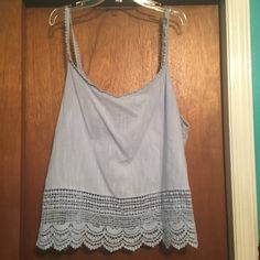 baby blue tank top size 3x baby blue tank top size 3x - included picture to show how I wore with another piece Forever 21 Tops Tank Tops