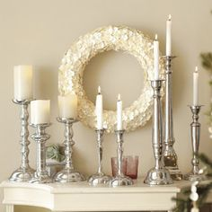 Large Pearl Button Wreath