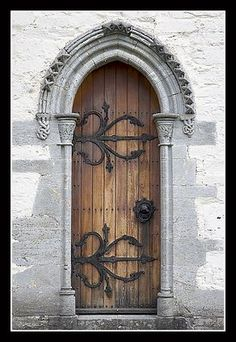 Gothic Door, Ornate Hinges