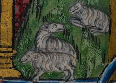 Detail from medieval manuscript, British Library Stowe MS 17 'The Maastricht Hours' f16v