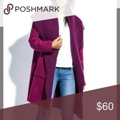 Mallie Girl size 6 wool blend coat New without tags! This coat is magenta tones and the material is a wool blend which makes it warm and cozy. I bought this coat from Zulily and I just don't need it I have too many coats. mallie girl Jackets & Coats