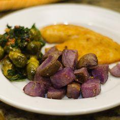 Oven Roasted Purple Potatoes