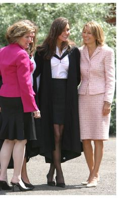 Kate Middleton's graduation from St. Andrews in Scotland.  Her mother is on the right.