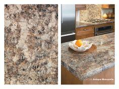 laminate - Antique Mascarello is a beautiful choice for a kitchen countertop Kitchen Design, Kitchen Backsplash, Kitchen Renovation, Kitchen Must Haves, Kitchen Countertops, New Kitchen, Kitchen, 180fx, Countertops