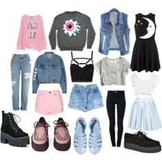 Pastel goth/grunge staple items