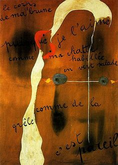 Painting Poem by Joan Miro, 1925