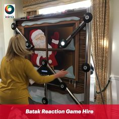 Batak Pro game is a speed and reaction wall where players must react to the lights on the machine. Batak game hire is the perfect indoor trade stand attraction. Office Christmas Party, Christmas Events, Christmas Party Games, Wall Game, Indoor Games, Scores, Backdrops, Santa, Party Ideas