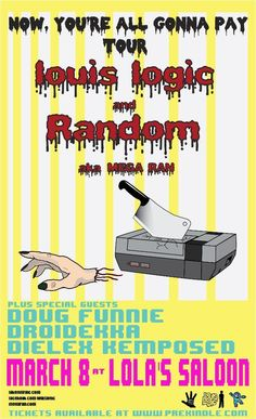 "March 8 @ Lola's Saloon - ""Nerdcore Night"" featuring Mega Ran 