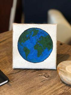 🌍 . #istencils #earth #art #stenciled #crafter #handmade #crafts #artsandcrafts #cute #makersgonnamake #crafting #shopsmall Stencil Wall Art, Custom Stencils, Handmade Crafts, Graffiti, Arts And Crafts, Crafting, Earth, Wallpaper, Decor