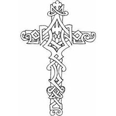 Cross Coloring Pages | This Bible Coloring Page design belongs to these categories: Crosses