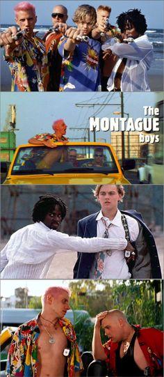 The Montagues from Baz Luhrmann's Romeo + Juliet. Costume Designer: Kym Barrett