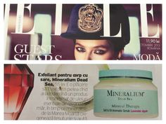Scrub-ul pentru corp din gama Mineral Therapy este recomandarea revistei Elle, numarul de octombrie! Multumim!