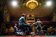 """Blind Pilot performs during a recording of OPB's """"State of Wonder"""" at the Liberty Theater in Astoria OR."""