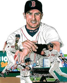 Nomar Garciaparra of the Boston Red Sox by Neal Portnoy.