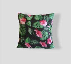 Palm Pillow Palm leaves Pattern 16x16 Pillow Decorative