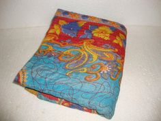 Kantha Quilt Reversible Indian Handmade by Antiquecollections