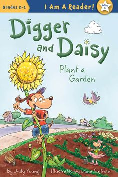 Canine siblings Digger and Daisy agree to plant a springtime garden and grow all kinds of delicious things to eat, a plan Digger augments with a special surprise for his sister. Wanted Comic, Rio Grande City, Sibling Relationships, K 1, Garden Pictures, Early Literacy, Digger, Name Cards, Garden Plants