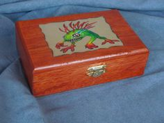World of Warcraft inspired small wood  Murloc box chest by DKKustomDesignz on Etsy