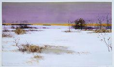 Bruce Crane (American, 1857–1937). Snow Scene. The Metropolitan Museum of Art, New York. George A. Hearn Fund, 1968 (68.40) #snow