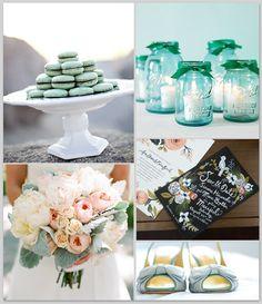 Pale aqua  mint wedding theme