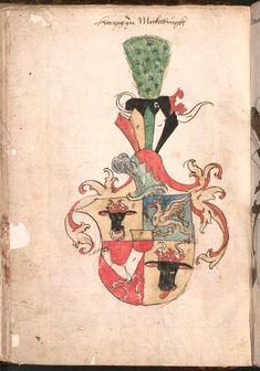 Wernigeroder (Schaffhausensches) Wappenbuch Süddeutschland, 4. Viertel 15. Jh. Cod.icon. 308 n  Folio 67v