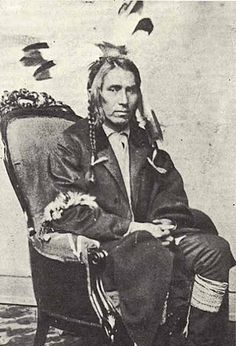 Po-Go-Nay-Ge-Shick II (aka Hole In The Day II, aka Gwiiwizenz, aka Little Boy) - Ojibwa - 1864 {Note: Hole In The Day II was the son of Hole In The Day I and Josephine, (who was the daughter of Broken Tooth).}