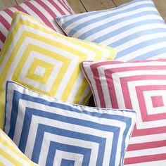 deck stripe cushion cover by sweet home london | notonthehighstreet.com