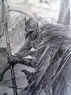 "Nazgul by Alan Lee ""Those who used the Nine Rings became mighty in their day, kings, sorcerers, and warriors of old. They obtained glory and great wealth, yet it turned to their undoing. They had, as it seemed, unending life, yet life became unendurable to them."""