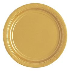 "Dessert Plates, 6.875"", Gold, 25 Count Unique"