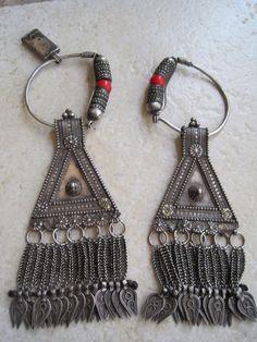 Oman  Antique Bedouin Earrings