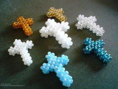 Beaded Cross PATTERN TUTORIAL scroll down