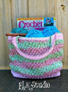 Honeysuckle - A Free Summer Crochet Bag I love the irony of Crocheting a bag to hold more crochet
