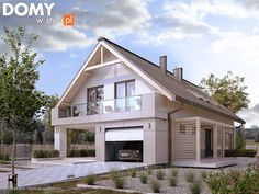 Projekt domu MT Amarylis 4 paliwo stałe CE - DOM - gotowy koszt budowy Design Case, Home Fashion, Small Towns, Townhouse, Beautiful Homes, House Plans, Outdoor Structures, Cabin, House Design