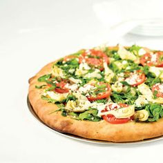 Vegetarian Greek Pizza