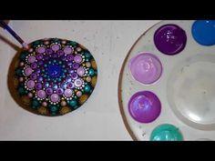 How to paint rock mandalas #16, Magic Carpet design
