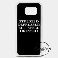 Stressed Depressed But Well Dressed Samsung Galaxy S8 Plus Case | casescraft