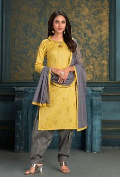 #Cotton #fabric is the #best #fabric in any #weathers, cotton #salwar #kameez is the best choice for any #girls or #womens, #Nikvik is the #bestseller of cotton salwar #suits in #USA #AUSTRALIA #CANADA #UAE #UK Patiala Salwar Suits, Cotton Salwar Kameez, Salwar Kameez Online, Punjabi Suits, Yellow Fabric, How To Dye Fabric, Fashion Pants, Party Wear, Normcore