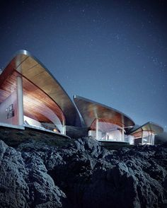 Sea Song is a unique architectural design by Form4 Architecture to create sail-like roofed pavilions fused in the immeasurable natural beauty seen on the California coast