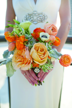 Bright Bridal Bouquets   The Studio B Photography   Adorned Event Design   www.theknot.com
