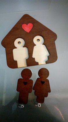 #present #wood #keyholder