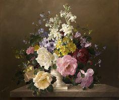 Английский художник Харольд Клейтон (Harold Clayton) 1896-1979 год– автор очень нежных натюрмортов.