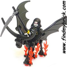 - C612 Lego Skeleton Dragon Horse Death Knight Minifigure