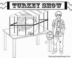 4-H or FFA show turkey coloring page